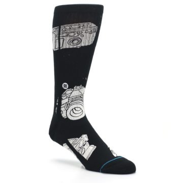 Image of Black White Cameras Men's Casual Socks (side-1-27)