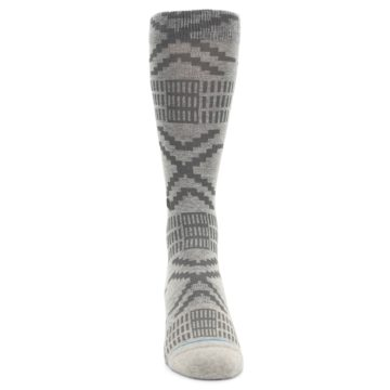 Image of Gray Coffee Dyed Pattern Men's Casual Socks (front-04)