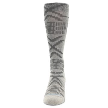Image of Gray Coffee Dyed Pattern Men's Casual Socks (front-05)