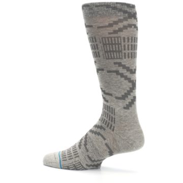 Image of Gray Coffee Dyed Pattern Men's Casual Socks (side-2-13)