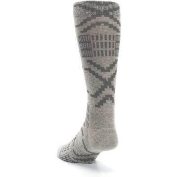 Image of Gray Coffee Dyed Pattern Men's Casual Socks (side-2-back-16)