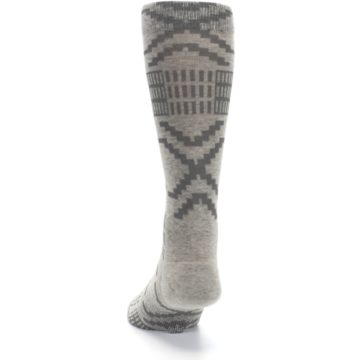 Image of Gray Coffee Dyed Pattern Men's Casual Socks (back-17)
