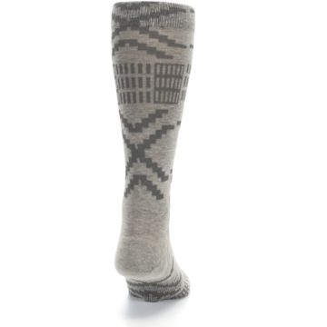 Image of Gray Coffee Dyed Pattern Men's Casual Socks (back-19)