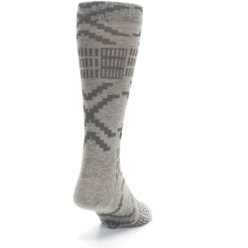 Image of Gray Coffee Dyed Pattern Men's Casual Socks (side-1-back-20)