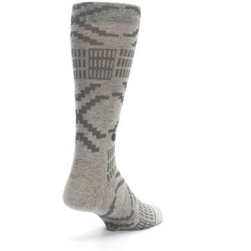 Image of Gray Coffee Dyed Pattern Men's Casual Socks (side-1-back-21)