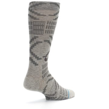 Image of Gray Coffee Dyed Pattern Men's Casual Socks (side-1-back-22)