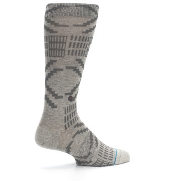 Image of Gray Coffee Dyed Pattern Men's Casual Socks (side-1-23)