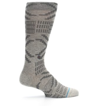Image of Gray Coffee Dyed Pattern Men's Casual Socks (side-1-24)