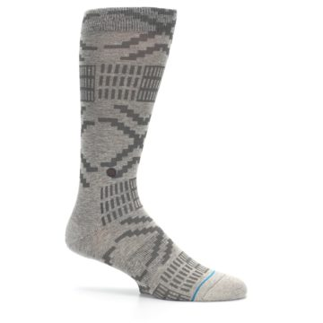 Image of Gray Coffee Dyed Pattern Men's Casual Socks (side-1-25)