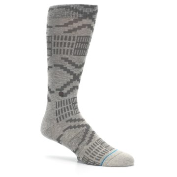Image of Gray Coffee Dyed Pattern Men's Casual Socks (side-1-26)
