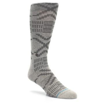 Image of Gray Coffee Dyed Pattern Men's Casual Socks (side-1-27)