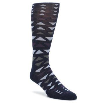 Navy-Multicolor-Triangles-Wool-Mens-Casual-Socks-Smartwool