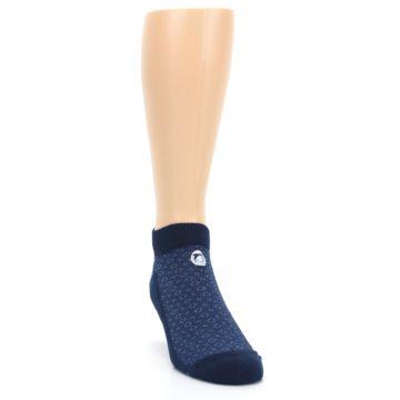 Image of Blue Ocean Bubbles Men's Ankle Socks (side-1-front-03)