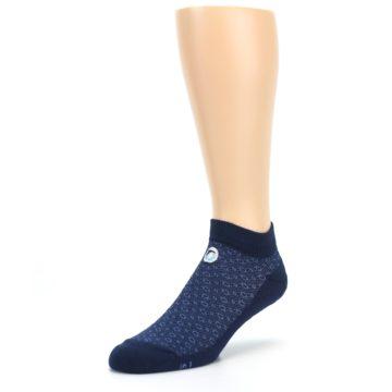 Image of Blue Ocean Bubbles Men's Ankle Socks (side-2-front-08)