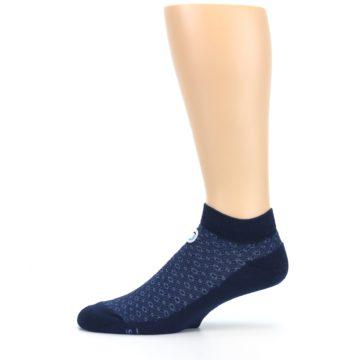 Image of Blue Ocean Bubbles Men's Ankle Socks (side-2-11)