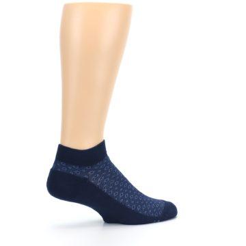 Image of Blue Ocean Bubbles Men's Ankle Socks (side-1-23)