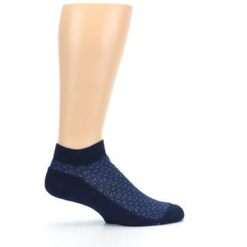 Image of Blue Ocean Bubbles Men's Ankle Socks (side-1-24)