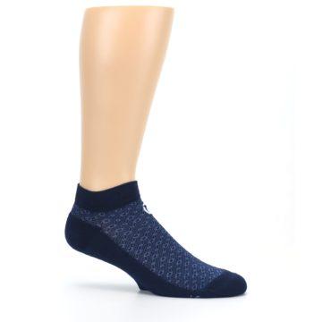 Image of Blue Ocean Bubbles Men's Ankle Socks (side-1-25)