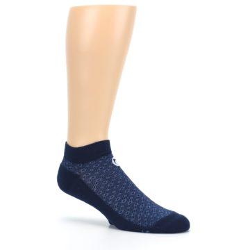 Image of Blue Ocean Bubbles Men's Ankle Socks (side-1-26)