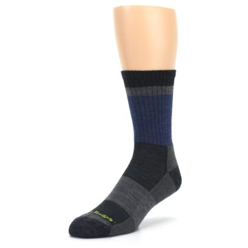 Image of Blue Gray Men's Wool Hiking Crew Socks (side-2-front-08)