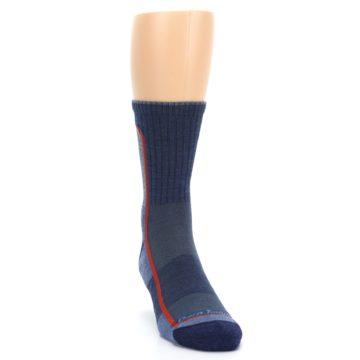 Image of Denim Orange Men's Wool Hiking Crew Socks (side-1-front-03)