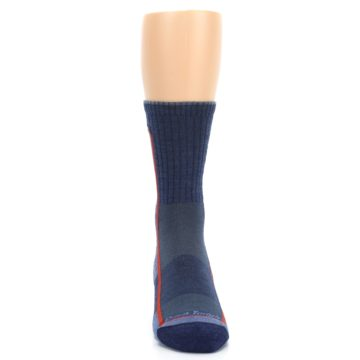 Image of Denim Orange Men's Wool Hiking Crew Socks (front-04)