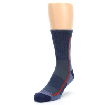 Image of Denim Orange Men's Wool Hiking Crew Socks (side-2-front-07)