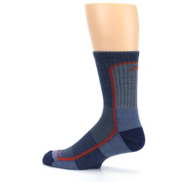 Image of Denim Orange Men's Wool Hiking Crew Socks (side-2-13)