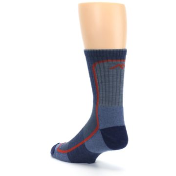 Image of Denim Orange Men's Wool Hiking Crew Socks (side-2-back-15)