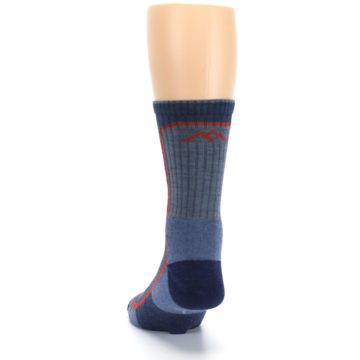 Image of Denim Orange Men's Wool Hiking Crew Socks (back-17)