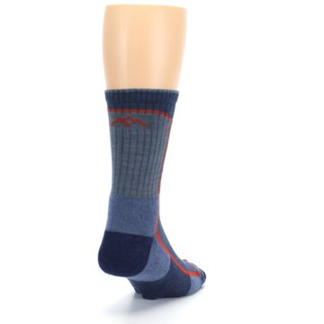 Image of Denim Orange Men's Wool Hiking Crew Socks (side-1-back-20)