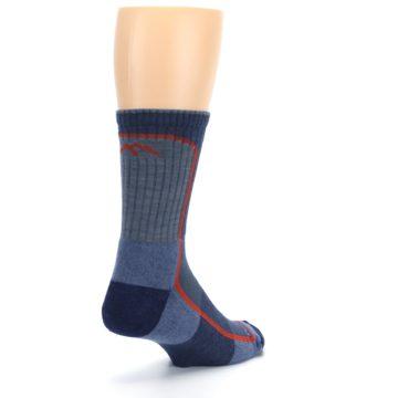 Image of Denim Orange Men's Wool Hiking Crew Socks (side-1-back-21)