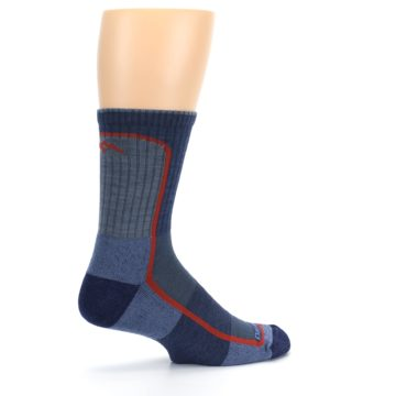 Image of Denim Orange Men's Wool Hiking Crew Socks (side-1-23)
