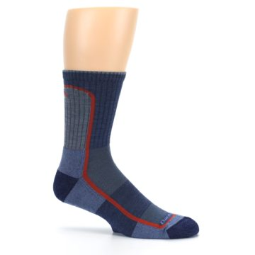 Image of Denim Orange Men's Wool Hiking Crew Socks (side-1-25)