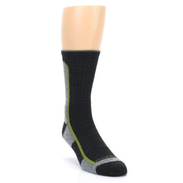 Image of Charcoal Lime Men's Wool Hiking Socks (side-1-front-02)
