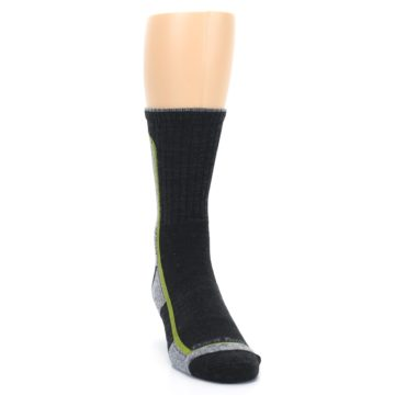 Image of Charcoal Lime Men's Wool Hiking Socks (side-1-front-03)