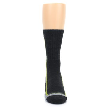 Image of Charcoal Lime Men's Wool Hiking Socks (front-04)