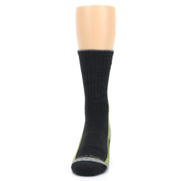 Image of Charcoal Lime Men's Wool Hiking Socks (front-05)