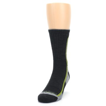 Image of Charcoal Lime Men's Wool Hiking Socks (side-2-front-06)