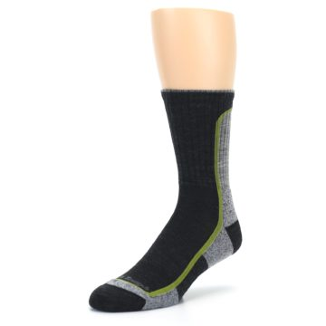 Image of Charcoal Lime Men's Wool Hiking Socks (side-2-front-08)