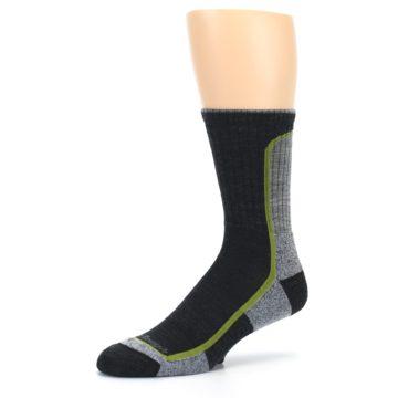 Image of Charcoal Lime Men's Wool Hiking Socks (side-2-09)