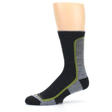 Image of Charcoal Lime Men's Wool Hiking Socks (side-2-10)