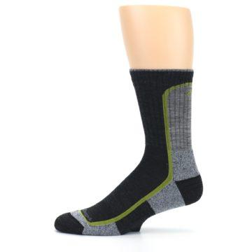 Image of Charcoal Lime Men's Wool Hiking Socks (side-2-11)