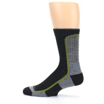 Image of Charcoal Lime Men's Wool Hiking Socks (side-2-12)