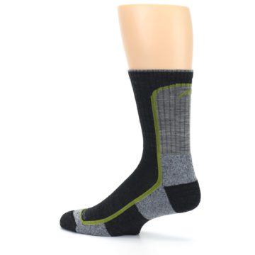 Image of Charcoal Lime Men's Wool Hiking Socks (side-2-13)