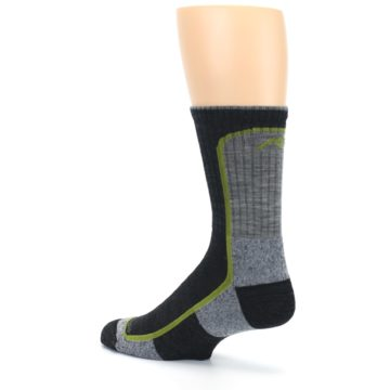 Image of Charcoal Lime Men's Wool Hiking Socks (side-2-back-14)