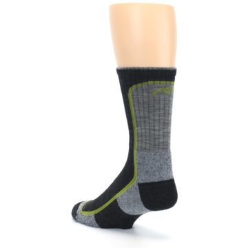 Image of Charcoal Lime Men's Wool Hiking Socks (side-2-back-15)