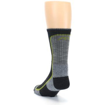 Image of Charcoal Lime Men's Wool Hiking Socks (side-2-back-16)