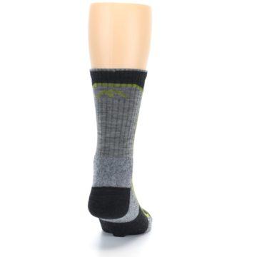 Image of Charcoal Lime Men's Wool Hiking Socks (back-19)
