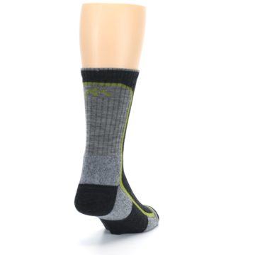 Image of Charcoal Lime Men's Wool Hiking Socks (side-1-back-20)